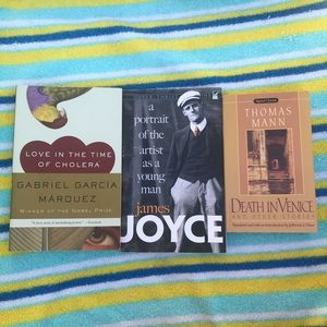 Set of 3 books by great authors